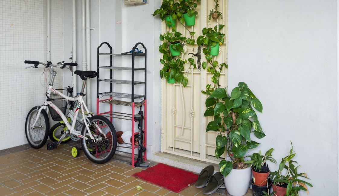 hausflur-mit-fahrrad